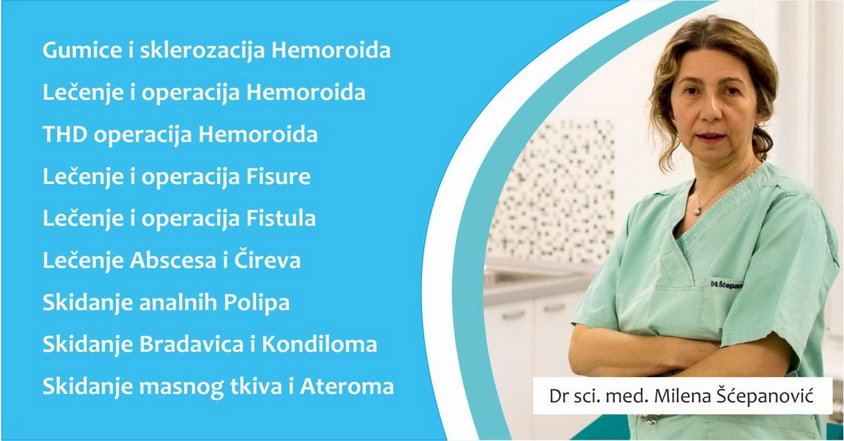 Ordinacija za hemoroide Proktomed Dr Milena Šćepanović